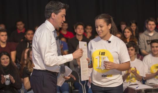 Send My Friend Ambassador Emily with Ed Miliband